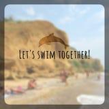 Cartaz das férias de verão com efeito obscuro Fundo do vetor Imagens de Stock