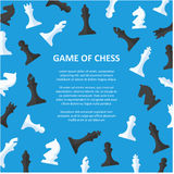 Cartaz das partes de xadrez com espaço para o texto ilustração stock