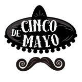 Cartaz de Cinco de Mayo ilustração stock