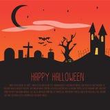 Cartaz de Dia das Bruxas, cartão Foto de Stock