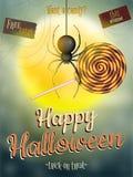 Cartaz de Dia das Bruxas para o feriado Eps 10 Imagem de Stock