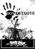 Cartaz de Don Quixote preto e branco ilustração royalty free