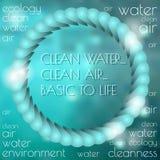 Cartaz de Eco Fundo colorido abstrato do vetor Foto de Stock Royalty Free