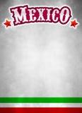 Cartaz de México do grunge do vintage - fundo Foto de Stock Royalty Free