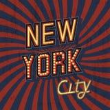 Cartaz de New York do vintage Imagem de Stock