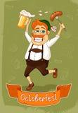 Cartaz de Oktoberfest Fotos de Stock Royalty Free