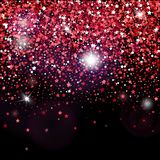 Cartaz decorativo do vetor com as estrelas brilhantes do brilho ilustração do vetor