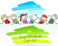 Cartaz do acampamento de verão Fotos de Stock