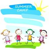 Cartaz do acampamento de verão Foto de Stock
