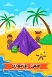 Cartaz do acampamento de verão Fotos de Stock Royalty Free