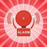 Cartaz do alarme de incêndio ilustração stock