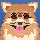 Cartaz do animal do cão Foto de Stock
