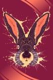 Cartaz do animal do coelho Foto de Stock Royalty Free