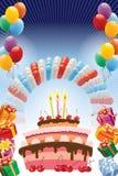 Cartaz do aniversário Imagens de Stock