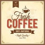 Cartaz do café do vintage com efeitos do grunge Fotos de Stock Royalty Free