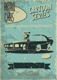 Cartaz do carro do vintage Foto de Stock Royalty Free