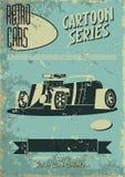 Cartaz do carro do vintage Fotografia de Stock
