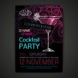 Cartaz do cocktail do disco Fotos de Stock Royalty Free