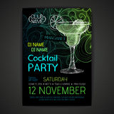 Cartaz do cocktail do disco Fotografia de Stock Royalty Free