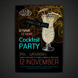 Cartaz do cocktail do disco Imagem de Stock