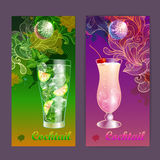 Cartaz do cocktail Fundo do disco Foto de Stock Royalty Free