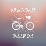 Cartaz do conceito da bicicleta da motivação Imagens de Stock Royalty Free