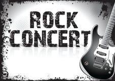Cartaz do concerto de rocha Foto de Stock Royalty Free