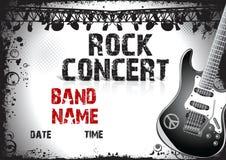 Cartaz do concerto de rocha Imagem de Stock Royalty Free