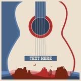 Cartaz do concerto do festival de música ilustração stock