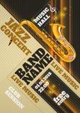 Cartaz do concerto do jazz Imagens de Stock