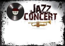 Cartaz do concerto do jazz Foto de Stock Royalty Free