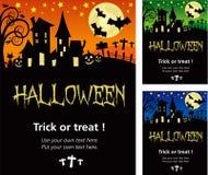 Cartaz do convite de Dia das Bruxas ou ilustração do cartão Foto de Stock Royalty Free