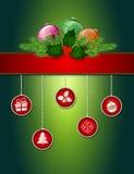 Cartaz do cumprimento do Natal Imagens de Stock