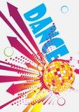 Cartaz do dance party com setas Fotos de Stock