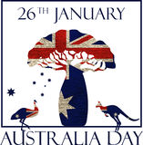 Cartaz do dia de Austrália Fotos de Stock Royalty Free