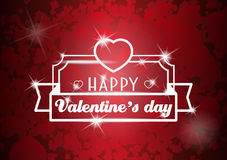 Cartaz do dia de Valentim com coração Fotos de Stock