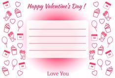 Cartaz do dia do ` s do Valentim Fotografia de Stock