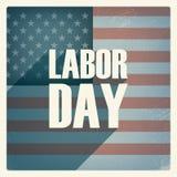 Cartaz do Dia do Trabalhador Projeto do grunge do vintage patriotic Imagem de Stock