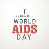 Cartaz do Dia Mundial do Sida Fotografia de Stock