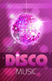Cartaz do disco Fotografia de Stock Royalty Free