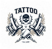 Cartaz do estúdio da tatuagem Fotografia de Stock Royalty Free
