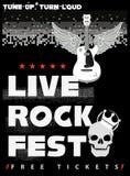 Cartaz do Fest da rocha Imagens de Stock Royalty Free