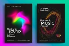 Cartaz do festival de música eletrônica Foto de Stock