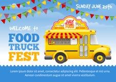 Cartaz do festival do caminhão do alimento ilustração royalty free