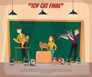 Cartaz do final do Car Show ilustração royalty free