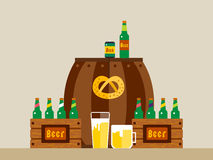 Cartaz do fundo do vetor da celebração de Oktoberfest Fotografia de Stock