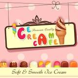 Cartaz do gelado Fotografia de Stock Royalty Free