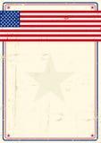 Cartaz do grunge de Estados Unidos Fotos de Stock Royalty Free