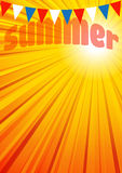 Cartaz do inseto do folheto do fundo do verão ilustração royalty free