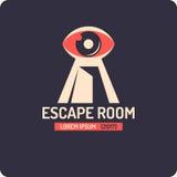 cartaz do jogo do escape e da procura da sala da Real-vida ilustração do vetor